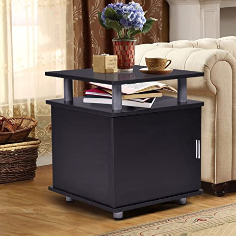 Amazon.com: End Table Nightstand Accent Storage Cabinet Couch Side ...