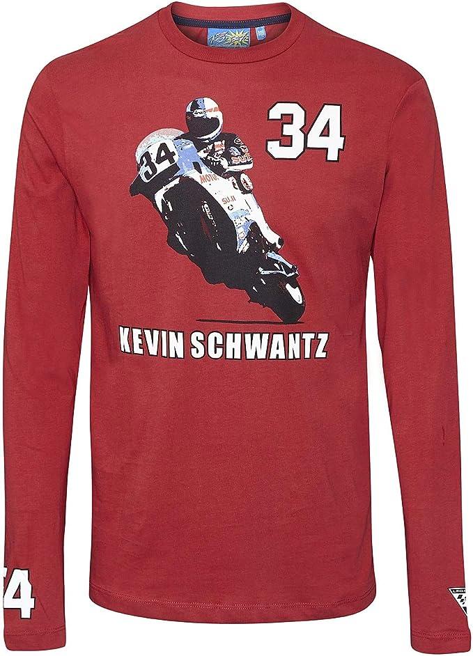 Kevin Schwantz 3501 07 Longsleeve Bike MotoGP 34 - Camiseta, color rojo: Amazon.es: Deportes y aire libre