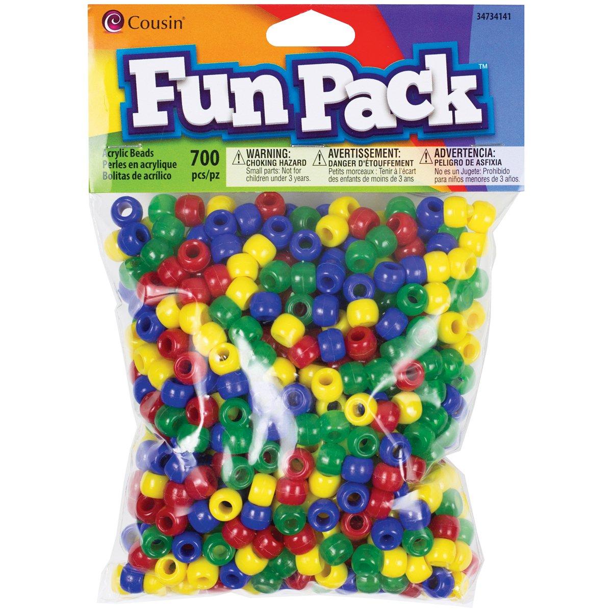 Cousin Fun Packs 700-Piece Primary Pony Beads