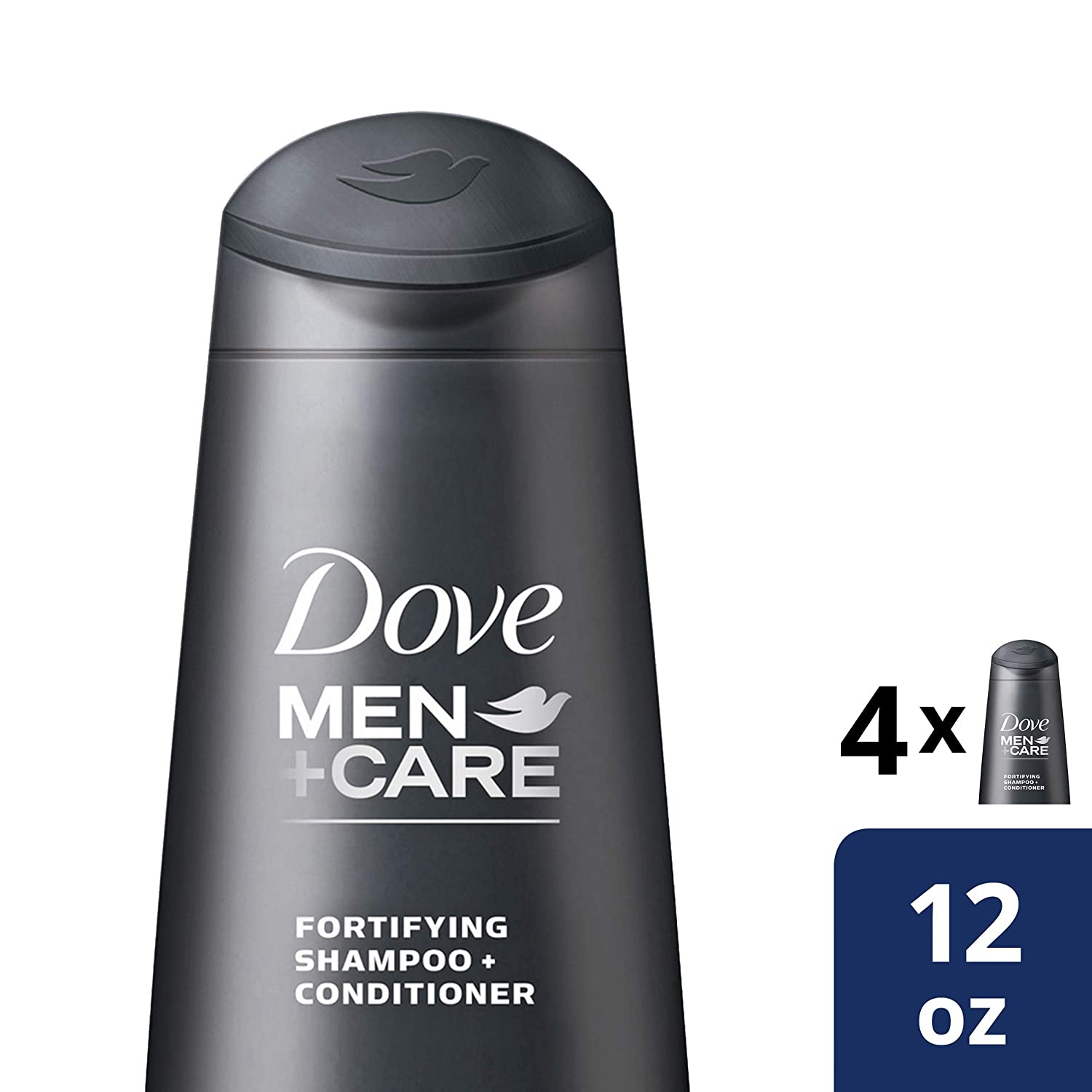 Dove Men+Care 2 in 1 Shampoo and Conditioner Thick and Strong 12 oz, 4 count