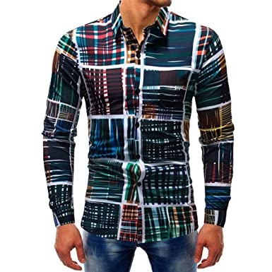Color : White, Size : 3XL XXXL Shirts Men Long Sleeve Top Casual Slim Fit,Plain 3D African Pattern Personalised Cuff Button Polo Pullover Blouse