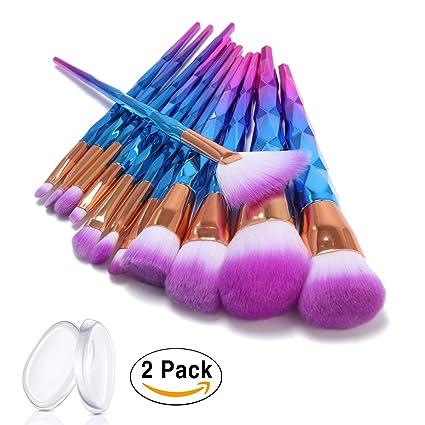 ASEL 12 Piezas/Set Brochas de Maquillaje para fundación ceja delineador de ojos Blush Corrector