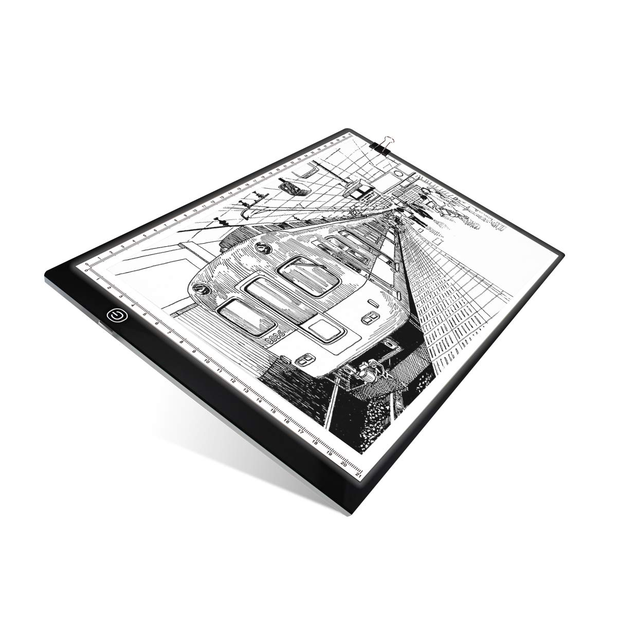 UKON A4 LED Light Box Drawing Light Pad Art Tracing Xray Light Board for Tracer Kids Artists Diamond Painting with Dimmable Brightness for Embroidery Sketching Animation Stenciling … (A4 Light Box) 4336950949