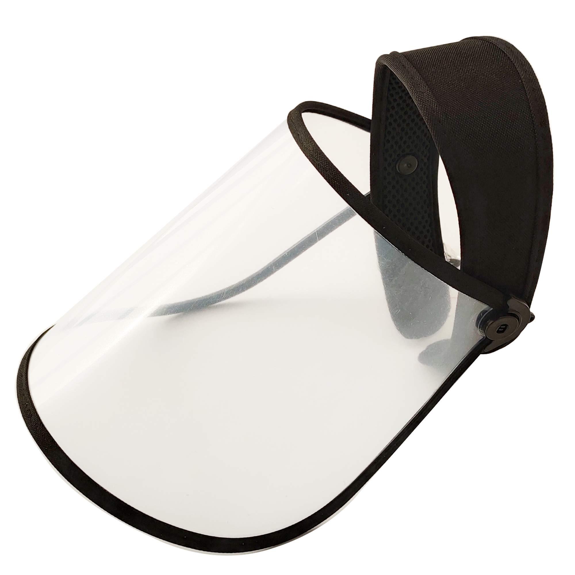 chenglan Sun Visor Full Face Shield UV Protective Cap Mask Eye Antiglare blueligh Cover Disposable Adjustable Hat for Women Men (Transparent) 54cm