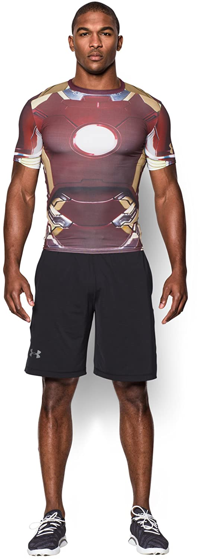 amazoncom under armour mens alter ego iron man compression shirt sports outdoors batman superman iron man 2