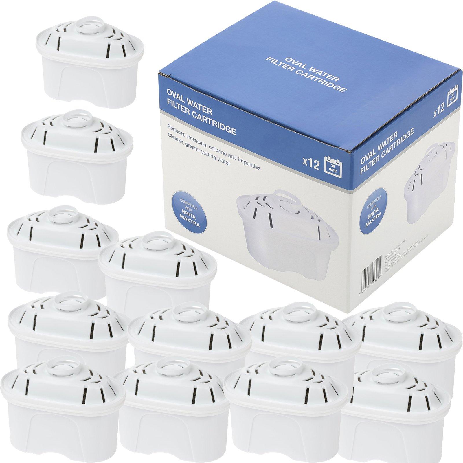 Qualtex Compatible Brita Maxtra Water filter Cartridges (Pack of 12)