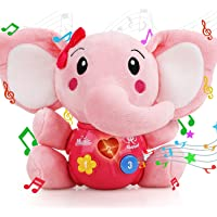 STEAM Life Plush Elephant Baby Toys - Newborn Baby Musical Toys for Baby 0 to 36 Months - Light Up Baby Toys for Infants…