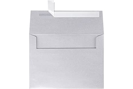 photo about Envelope Printable named LUXPaper A7 Invitation Envelopes for 5 x 7 Playing cards inside of 80 lb. Silver Steel, Printable Envelopes for Invites, w/Peel and Push Seal, 250 Pack,