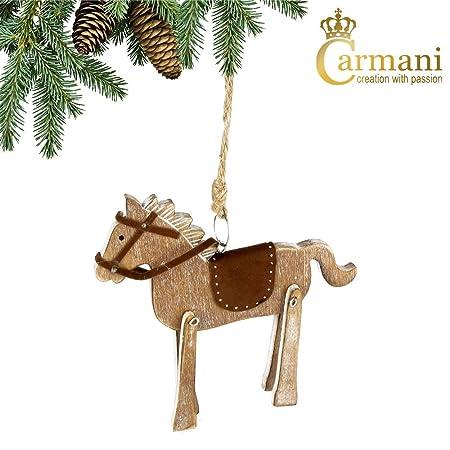 carmani horse shaped wooden xmas ornament traditional christmas decoration - Horse Christmas Decorations Uk