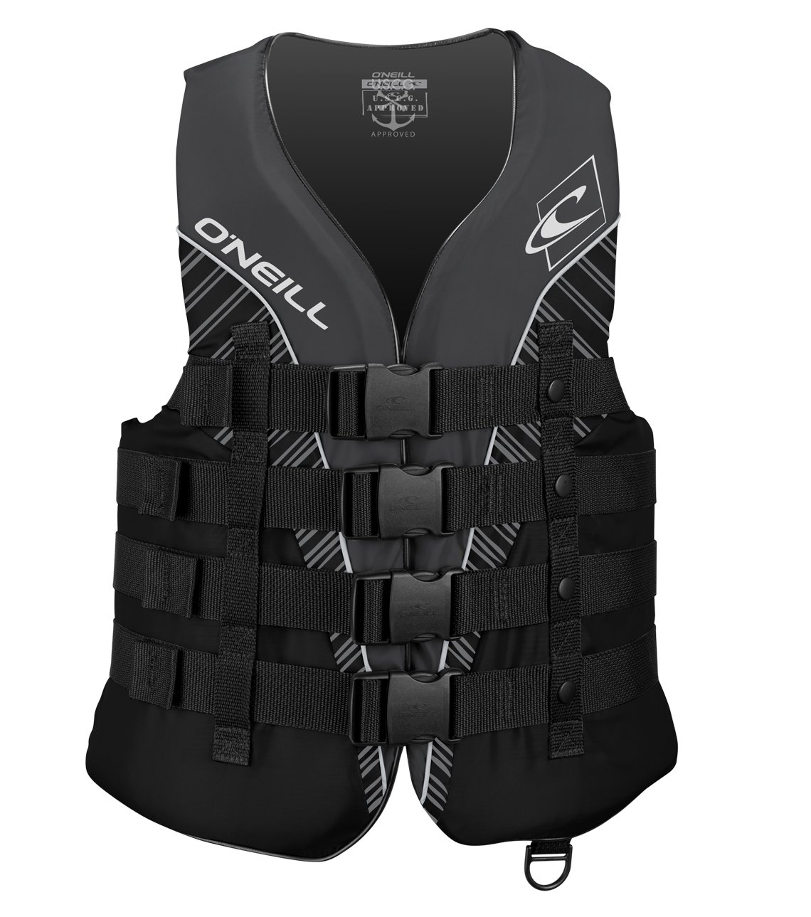 O'Neill  Men's Superlite USCG Life Vest, Black/Black/Smoke/White,Small by O'Neill Wetsuits (Image #1)