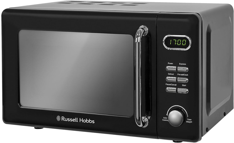 Russell Hobbs RHRETMD706C 17L Retro Digital 700w Solo Microwave Cream Black