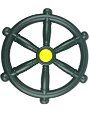 HIKS Green Toy Pirate Ship Steering Wheel 30cm, Ideal For Kids Childrens Climbing Frame, Tree House & Play House (Also Available In Red & Blue)