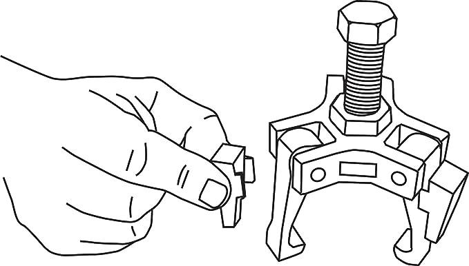 Amazon Com Lisle 51450 Harmonic Damper Pulley Puller Automotive