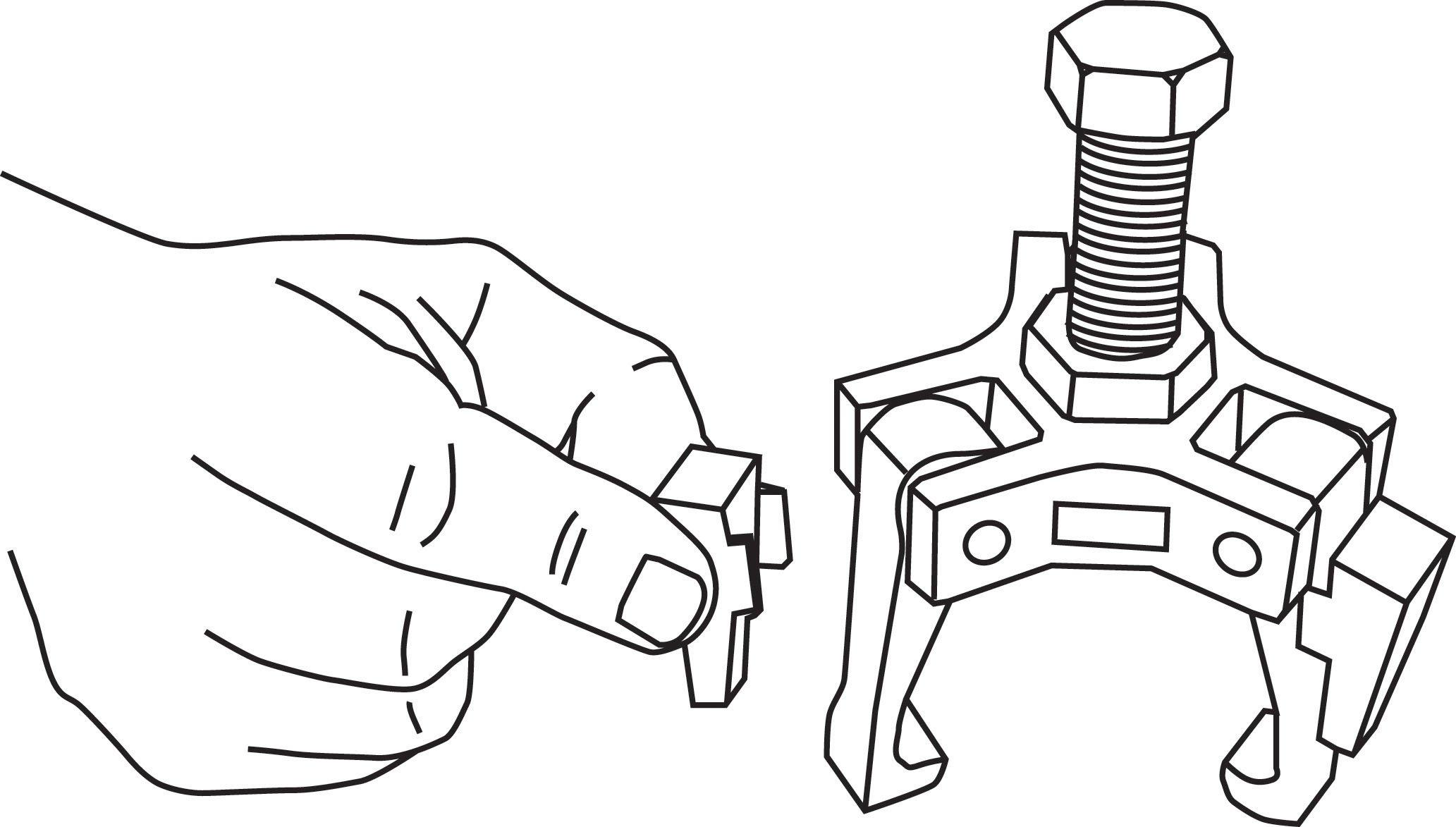 Lisle 51450 Harmonic Damper Pulley Puller by Lisle (Image #2)