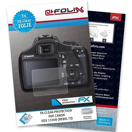 atFoliX Lámina Protectora de Pantalla Compatible con Canon EOS ...