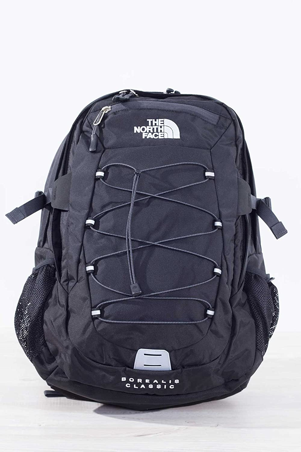 THE NORTH FACE Borealis Classic Sac à dos, Blanc/Rouge, Taille Unique