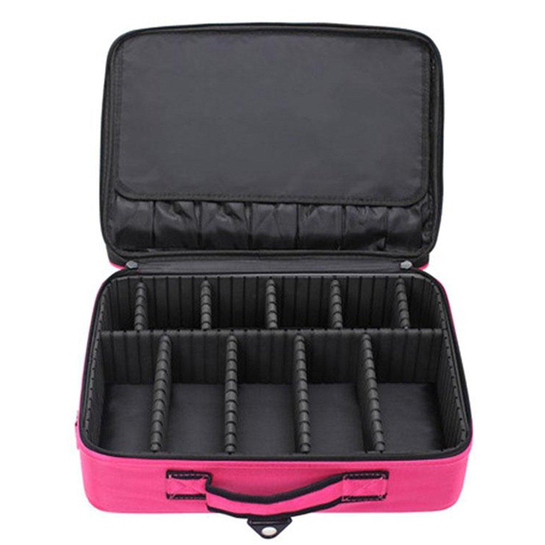Vin beauty TOPmountain Cas de maquillage portable Sac cosmétique Organisateur Professionnel Pochette de rangement Valise