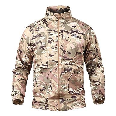 Amazon.com: Chaqueta de camuflaje para hombre, impermeable ...