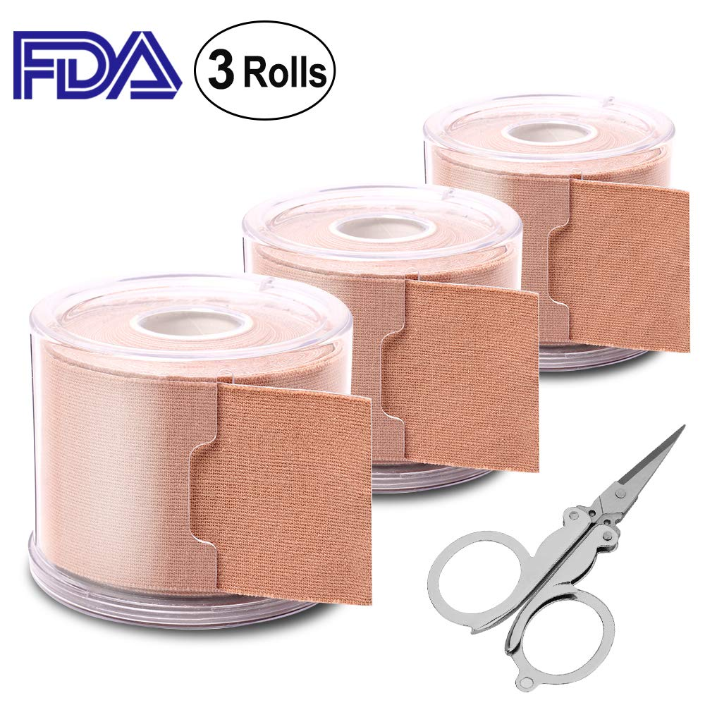 CS Force Kinesiology Physiotherapy Sports Tape Waterproof Elastic Therapeutic Tape for Knee, Shoulder, Elbow. 3 Rolls