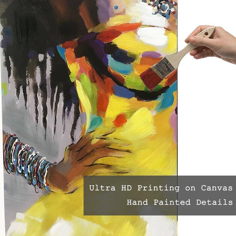 Amazon.com: Crescent Art Framed African American Black Art Dancing ...