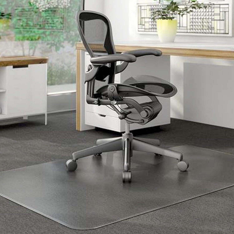 KSHG 사무실 의자 매트 바닥 36×60 인치 데스크 카펫 플라스틱 의자를 위한 매트 카페트 바닥 나무 바닥이 두꺼운 반대로-미끄러짐 패드 보호