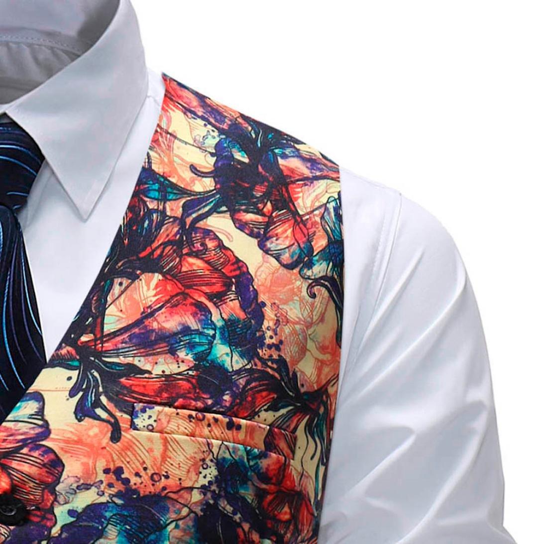 Easytoy Mens Formal Business Dress Suit Waistcoat Vests Slim Fit Button Down TuxedoVests
