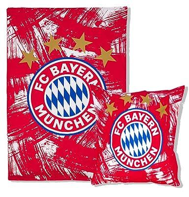 Fc Bayern München Bettwäsche Rotweiß 135x200cm Biber Amazonde