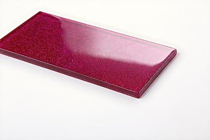 Qm di piastrelle da parete in vetro rosa con brillantini