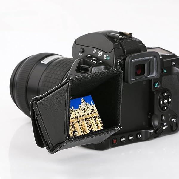 Movo LH30 Capucha Cubierta Lujosa LCD para Pantallas Giratorias de ...