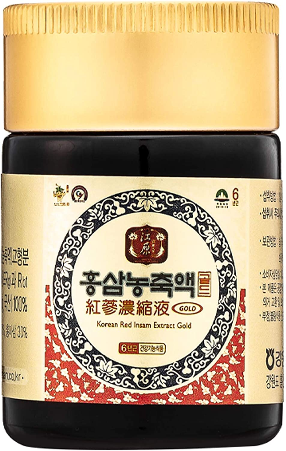 Gangwoninsam Korean Red Ginseng Extract Gold 6 Year Old Red Ginseng Extract 100 , Korean Health Food, 1.76 fl. Oz 50g