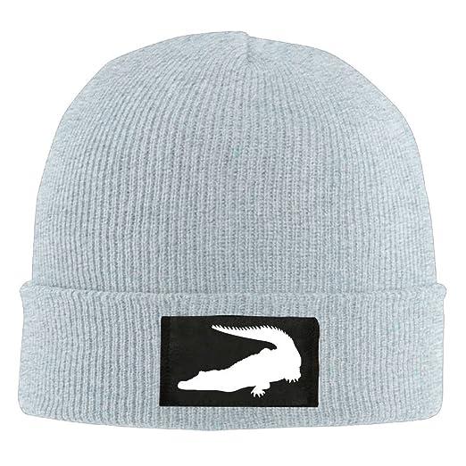 df9ff651836 Amazon.com  Crocodile Men Women Slouchy Beanie Hat Winter Wool Knit ...