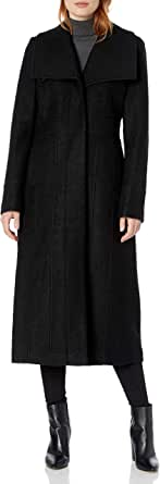 Kenneth Cole Women's Pressed Boucle Wool Maxi Coat