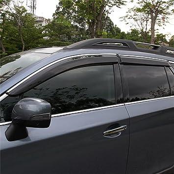 Window Visor Guard Deflector Rain Shield 4pcs for Subaru Outback 2015-2018
