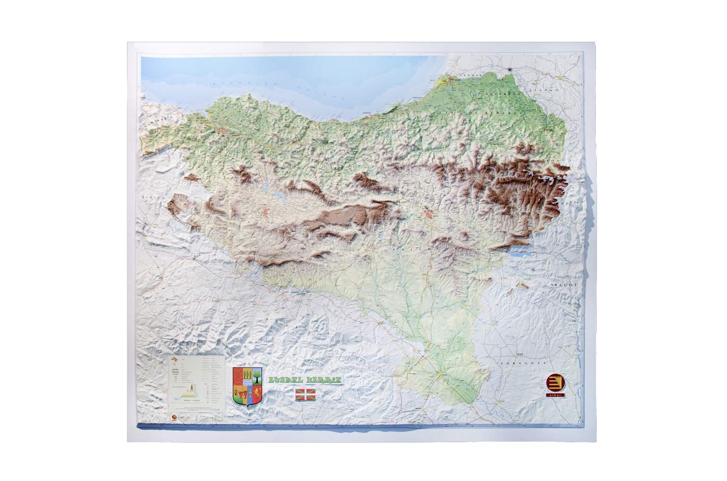 Mapa en relieve de Pais Vasco - Euskal Herria: Escala 1:230.000: Amazon.es: All 3D Form, S.L.: Libros