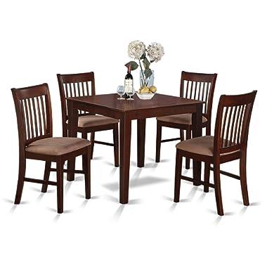 East West Furniture OXNO5-MAH-C Kitchen set Mahogany Finish