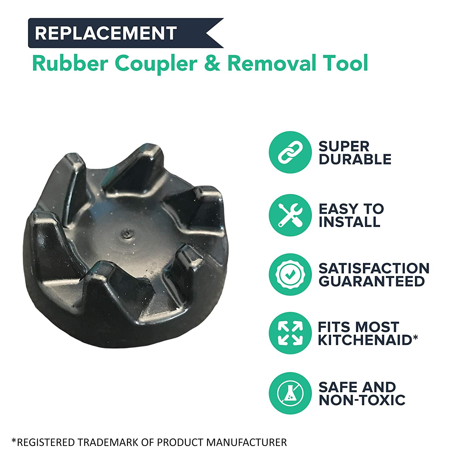 KSB3 /& KSB5 Think Crucial Replacements for KitchenAid Blender Rubber Coupler /& Removal Tool for Models KSB3 Compatible With Part # 9704230