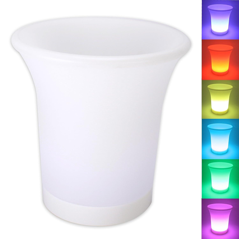 LED Flaschenkü hler Sektkü hler Weinkü hler Champagnerkü hler Sektkü bel Eiskü bel mit Farbwechsler LED-Beleuchtung HTL