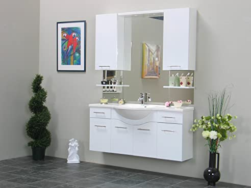 Badezimmer Set Apollo Waschbecken Bad Spiegel Schrank Möbel ...