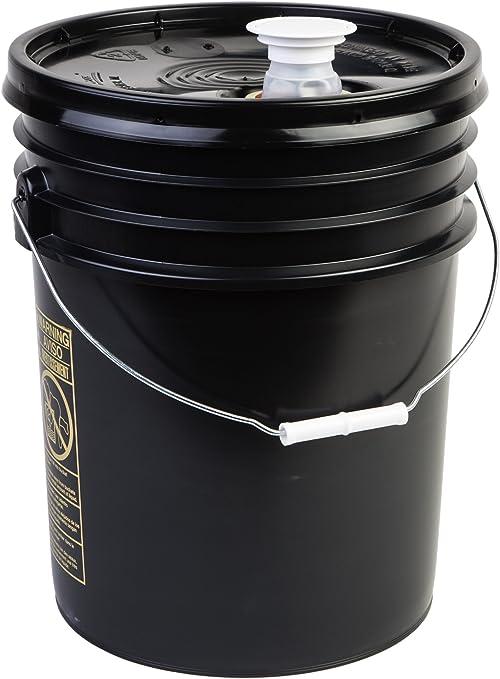 6 Pack HDPE Hudson Exchange Premium 5 Gallon Bucket with Rieke Lid Blue