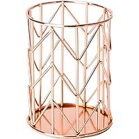 U Brands, Vaso para lápices, alambre de metal, Portalápices, rosa