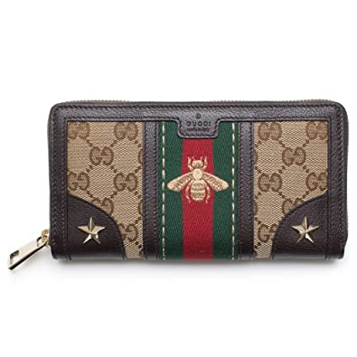 f86cfa4614b Amazon.com  Gucci Bee Web Wallet Signature Star Box Leather ...