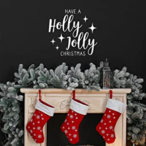 Vinyl Wall Art Decal - Have A Holly Jolly Christmas - 21