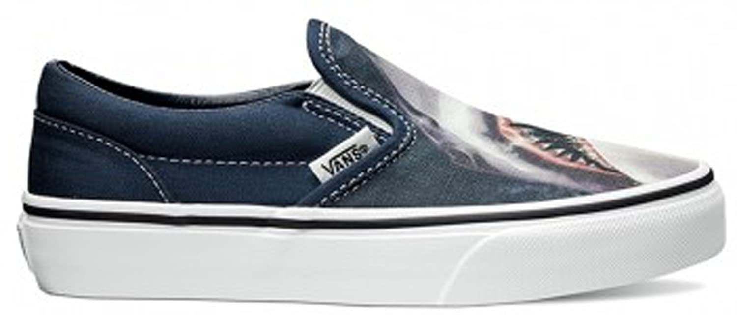 b83c5e3b4d15 Amazon.com  Vans Kids Boy s Classic Slip-On (Little Kid Big Kid) (Digi Shark)  Dress Blues True White Sneaker 4.5 Big Kid M  Everything Else