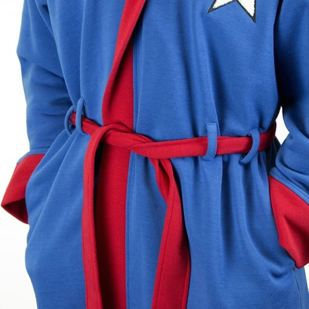 Bioworld Captain America Hooded Robe with Belt Small/Medium: Clothing
