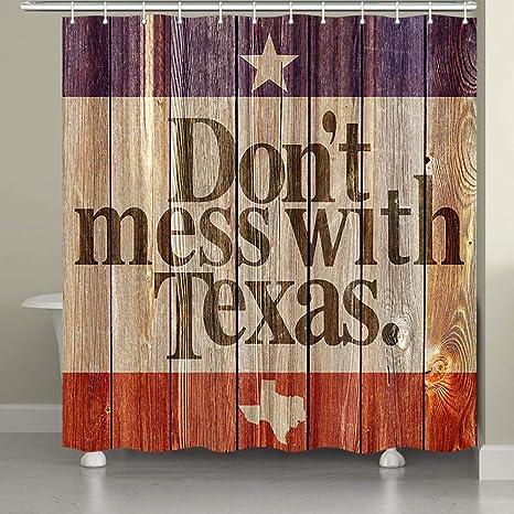 Amazon.com: Cortina de ducha JAWO Texas con citas Whismal ...