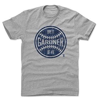 half off ce625 92acd 500 LEVEL Brett Gardner Shirt - New York Baseball Men's Apparel - Brett  Gardner New York Ball