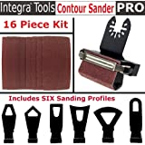 INTEGRA Tools Multitool Contour Sanding Accessory Set with 6 Unique Profile Shapes
