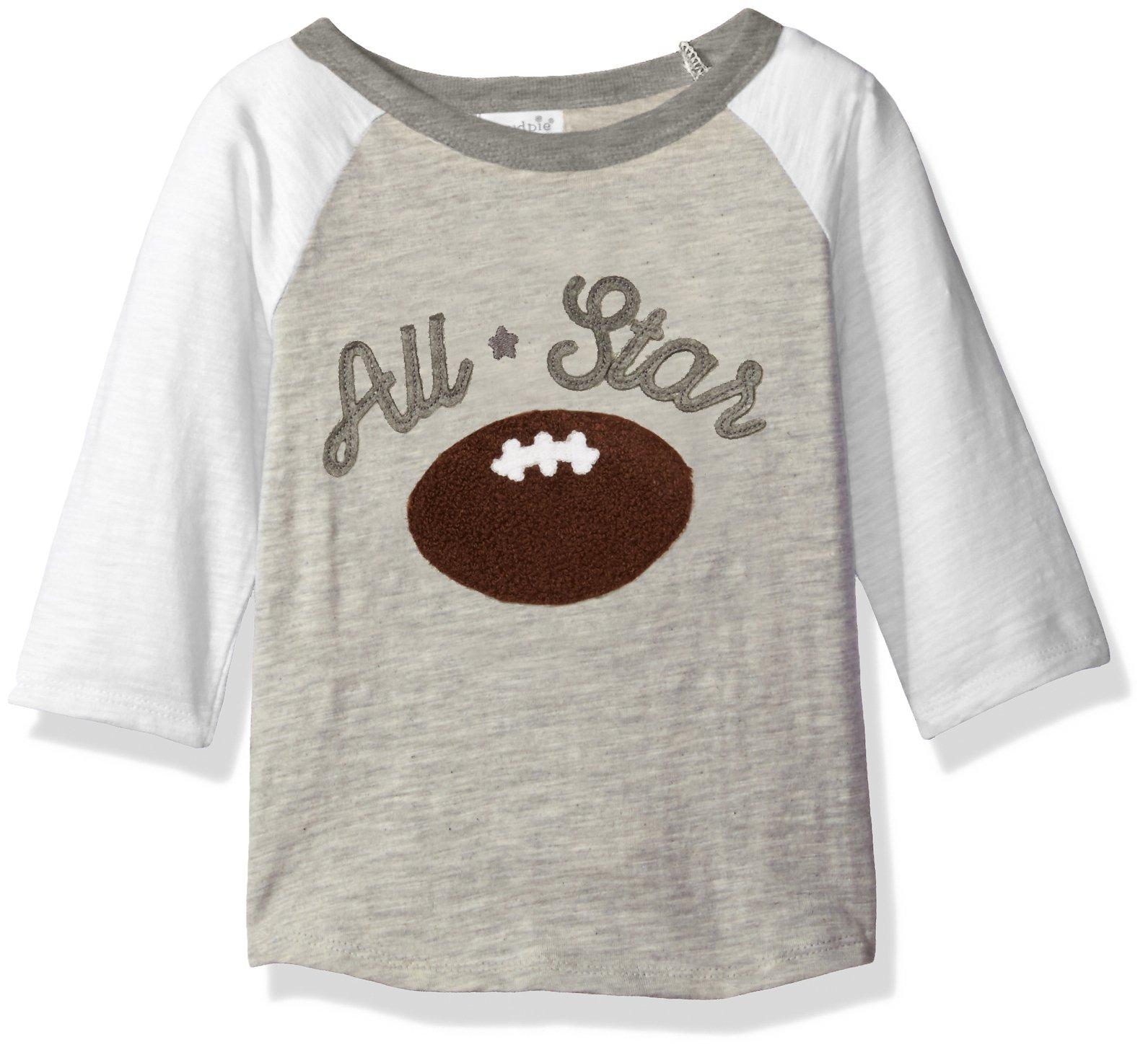 Mud Pie Baby Boys' Raglan T-Shirt, Football, 12-18 Months