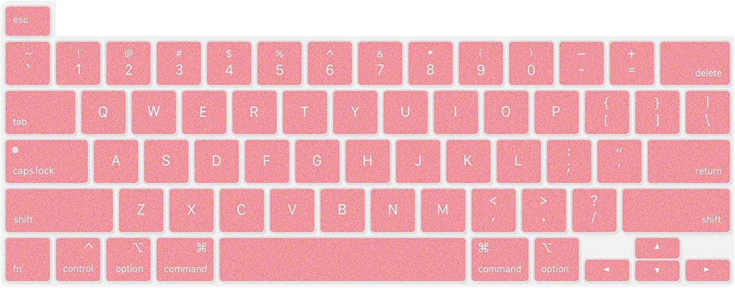 Model: A2141 Rose Gold US Layout Silicone Keyboard Cover for MacBook Pro 16 Inch 2019 ProElife Ultra Thin Soft Keyboard Protective Skin for 2019 MacBook Pro 16-Inch Touch Bar//Touch ID 2 Pack