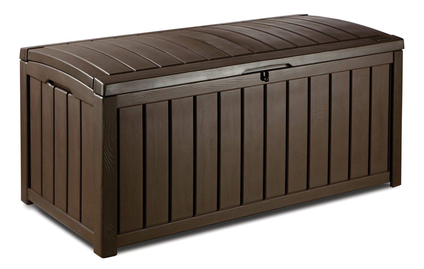 Keter - Arcón exterior Glenwood. Capacidad 390 litros. Color marrón 17193522 506019859878